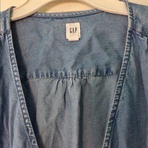 GAP Dresses - GAP denim cross over dress